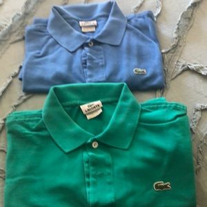 Lacoste Two Men's Polos size 6
